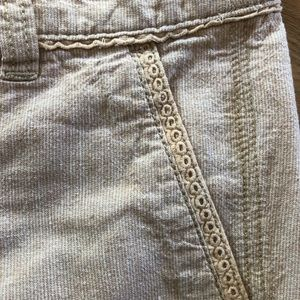 Pilcro and the Letterpress Pants - Pilcro and the Letterpress Linen Blend Pants